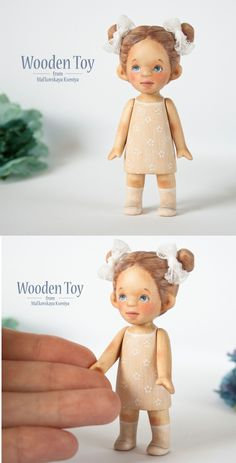 miniature, collection doll, wooden doll, bjd doll by WoodenToyss Wood Carving Faces, Teddy Toys, Realistic Dolls, Doll Painting, Baymax, Little Doll, Child Doll, Wooden Dolls, Bjd Dolls