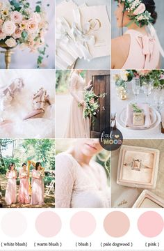 Color palettes with rose gold for wedding google search wedding blush pink wedding theme 37 pretty blush pink color combinations junglespirit Image collections