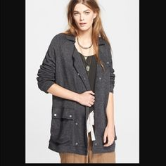 Free People Slouchy Anorak Jacket Excellent Condition. Sized as an XS, however fits me perfect as a Medium, with a turtleneck underneath. This is a super cool coat in a cozy sweatshirt material. Free People Jackets & Coats Pea Coats