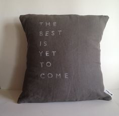 Natural Linen Inspirational Quote Pillow - Handmade Pillow Case via Casa And Co on Etsy.