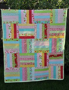 this would be a super quick and easy quilt if i ever got a ... : fast and easy quilts - Adamdwight.com