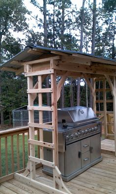 21 Grill Gazebo, Shelter And Pergola Designs Grill Gazebo, Diy Gazebo, Diy Deck, Pergola Kits, Grill Canopy, Pergola Ideas, Grill Hut, Grill Area, Patio Gazebo