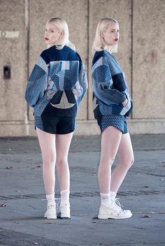ELINA PRIHA SS15 VARSITY - Recycled Denim Varsity Jackets