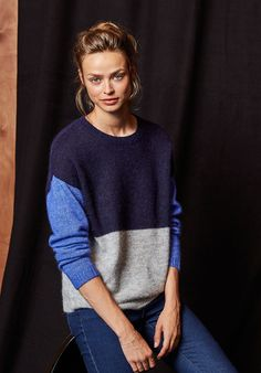 hush | Colourblock Jumper