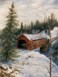 covered bridges | Covered Bridge Low Quebec | kevindoddsart.com
