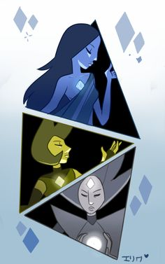 """kabuki-akuma: """"The Diamonds, as seen in today's episode, It could've be great Pink Diamond was not shown though. """""""