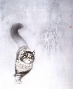 kot_de_azur: Кошки китайского художника Сюй Синьци