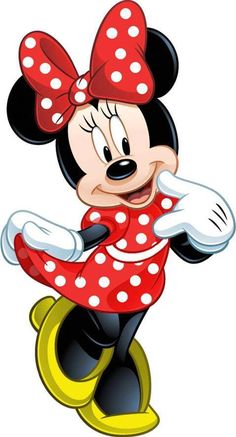 Minnie Mouse is an anthropomorphic mouse created by Walt Disney. She is the girlfriend of Mickey. Mickey Minnie Mouse, Mickey Mouse E Amigos, Mickey Mouse And Friends, Minnie Mouse Drawing, Minnie Mouse Clipart, Minnie Mouse Costume, Baby Mickey, Retro Disney, Art Disney