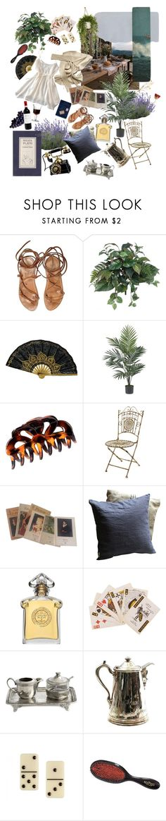 """""""Je me souviens des temps anciens."""" by sligthlyromantic ❤ liked on Polyvore featuring K. Jacques, LFrank, Peony, Nearly Natural, H&M, Monet, Guerlain, Arte Italica, Charlotte Olympia and Mason Pearson"""