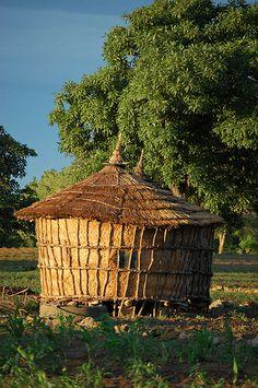 "Village granary near Fada, Burkina Faso .................... #GlobeTripper® | https://www.globe-tripper.com | ""Home-made Hospitality"" | http://globe-tripper.tumblr.com/"