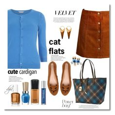 """Cat flats"" by dgia ❤ liked on Polyvore featuring Lauren Ralph Lauren, Dorothy Perkins, Charlotte Olympia, Urban Decay, MAC Cosmetics and Theodora Warre"
