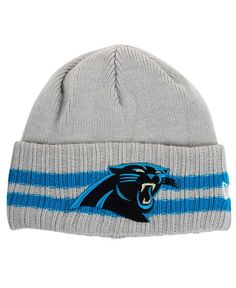 New Era Carolina Panthers Striped Cuff Knit Hat Knit Hat For Men b13074487