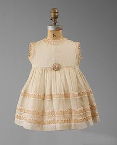 Child Dress, Jeanne Lanvin, cotton, silk, all/winter 1930–31