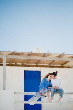 Engagement photosession in Mykonos #engagementphotography #fashionphotoshoot #styledphotoshoot #mykonos #shootinginmykonos #engagementideas #engagementinspiration #blueandwhite #fineartphotography