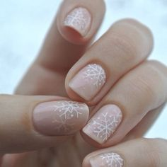 Love this winter nail art