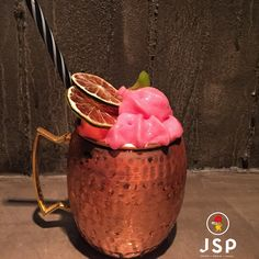 Bensan Mule***** Absolut vodka-sake marinated in Lemongrass,Tumbo purée,Passion fruit syrup,Shiso syrup,Fresh Lime juice,Top up Cactus-Shiso Fentimans Ginger Beer Foam Cinco JSP Let's rock\m/