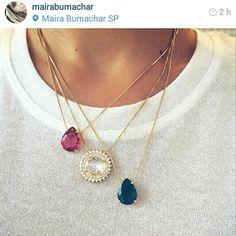 O mix da nossa designer @mairabumachar #colares #todosnalojavirtual www.mairabumachar.com.br #mairabumachar