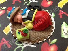 Baby Boy Fondant Cake Topper - Large