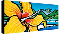 Hibiscus Bay- 12x24 Giclee on Canvas