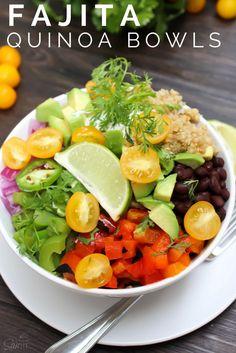 Fajita Quinoa Bowls