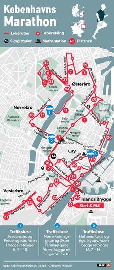 KORT Her kan du komme igennem København under maratonet | Nyheder | DR