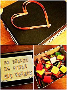 Idealny prezent dla bliskiej nam osoby. Potrzebujemy jedynie pudełka, trochę cukierków i chęci. Możemy podarować to ukochanej osobie i powiedzieć jej za co ją kochamy, lubimy, szanujemy. :)