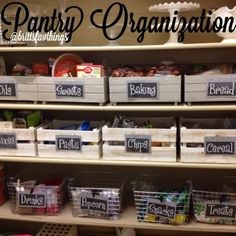 These clever kitchen pantry organization hacks will save your food from the deadline. Get some ideas for your pantry closet organization here. – Experience Of Pantrys Pantry Organisation, Pantry Storage, Kitchen Organization, Organization Hacks, Food Storage, Pantry Ideas, Organized Pantry, Organize Fridge, Pantry Baskets
