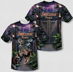 Jurassic Park Live Raptor Allover Sublimation Licensed Adult T Shirt