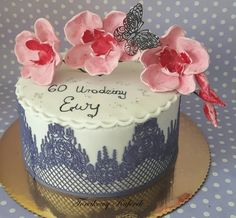 Cake with orchid