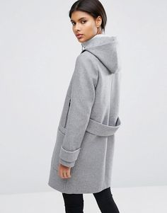 ASOS | ASOS – Mantel aus Wollmischung mit Stehkragen und Streifendesign
