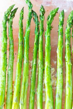 I'm going to make a big bold statement…This was the BEST! (yes all caps are necessary) asparagus I've ever had! Yes …THE BEST! Perfectly tender with just the right amount of crisp and a faint impar…