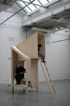 how the notion of architecture can influence furniture design. Xs-architecture vs Xl-furniture by Worapang-Manupipatpong. Cubby Houses, Play Houses, Urban Furniture, Furniture Design, Wood Architecture, Installation Architecture, Concept Architecture, Installation Art, Architectural Elements
