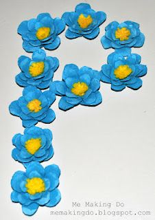 more egg carton flowers for wreaths &  bouquets