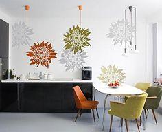 Beautiful Floral stencils for accent wall  #cuttingedgestencils