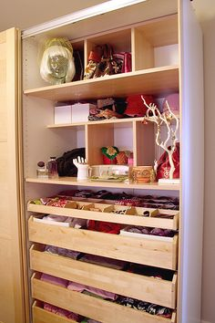 ikea pax wardrobe storage-Have this in my daughters closet. You can customize it to fit your closet. Wardrobe Organisation, Wardrobe Storage, Closet Organization, Closet Storage, Closet Drawers, Organizing, Sliding Drawers, Organization Ideas, Closet Vanity