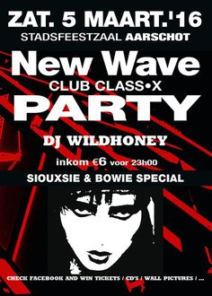 10 tickets to win via Side-Line for New Wave Club Class-X Party in Aarschot (March 5, 2016): read the full story at  http://www.side-line.com/10-tickets-to-win-via-side-line-for-new-wave-club-class-x-party-in-aarschot-march-5-2016/ . Tags: #Aarschot, #NewWaveClubClassXParty .