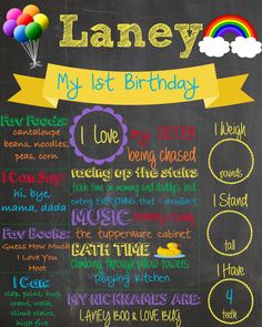 A personal favorite from my Etsy shop https://www.etsy.com/listing/228466092/personalized-birthday-chalkboard