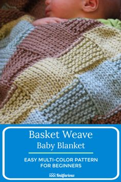Basket Weave Baby Blanket: Free Pattern Make this easy color block baby blanket knitting pattern in a texture-rich basket weave. So easy to do with multiple colors. Makes the perfect baby shower gift for Mom and baby! Easy Knit Baby Blanket, Free Baby Blanket Patterns, Knitted Baby Blankets, Knitted Blankets, Knitting Patterns Free, Free Pattern, Free Baby Knitting Patterns, Knitting For Kids, Free Knitting
