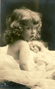 ebed25f32e7 Beautiful vintage victorian-era early photograph of a young little girl.  What a beautiful child