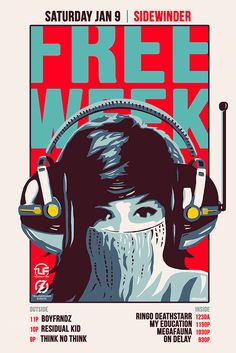 """Check out my @Behance project: """"FREE WEEK - Gig Poster - Austin TX"""" https://www.behance.net/gallery/35713143/FREE-WEEK-Gig-Poster-Austin-TX"""