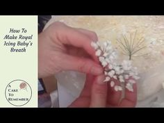 How to make gumpaste baby's breath for cake decorating - YouTube