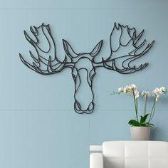 Trophée en bois Moose - Hu2
