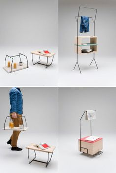A table, a carrier, a portable storage carrier. WE LOVE THIS! #HomeDecor