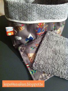 Les petites valises: Petite valise cadeau : les lingettes lavables dans leur panière assortie