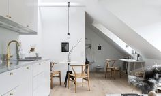 Interior design for a small living space Apartment in Vasastan district of Stockholm