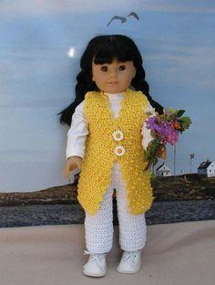 Flowers for Mom Crochet Pattern for 18 inch dolls
