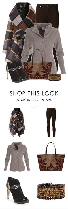 """""""Untitled #2618"""" by jodilambdin ❤ liked on Polyvore featuring Chicwish, 7 For All Mankind, Etro, MICHAEL Michael Kors and Cocobelle"""