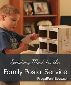 Make a postal service for home or classroom - individual mailboxes, writing supplies, etc. This is seriously a fun way to encourage writing skills! And celebrating Postal month! Kids Writing, Writing Skills, Letter Writing, Literacy Activities, Activities For Kids, Activity Ideas, Childhood Education, Kids Education, Dramatic Play
