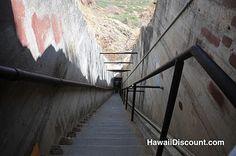 Stairs on the Diamond Head hike - Oahu, Hawaii