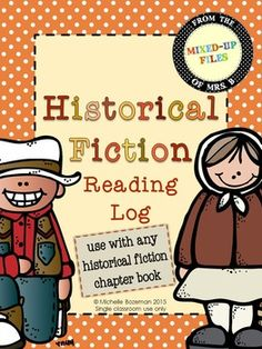 Reading Response log for students to record notes as they read a historical fiction chapter book. This is appropriate for use with a class novel study or for independent reading and is open-ended enough to use with a variety of leveled books.  Practice reading literature and recording textual evidence, as well as analyzing story elements, making inferences, and thinking critically. -- from Mixed-Up Files ($)